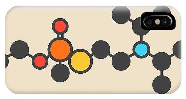 Nerves iPhone Case - Vx Nerve Agent Molecule by Molekuul