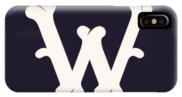 Humor iPhone Case - W Letter Logo Made Out Of Bones. Vector by Kaer stock