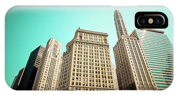 Wacker And Michigan Avenue Chicago IPhone Case