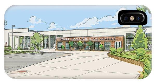 School iPhone Case - Wade Hampton High School by Greg Joens