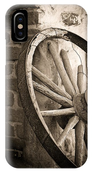 Wagon Wheel iPhone Case - Wagon Wheel by Peter Tellone