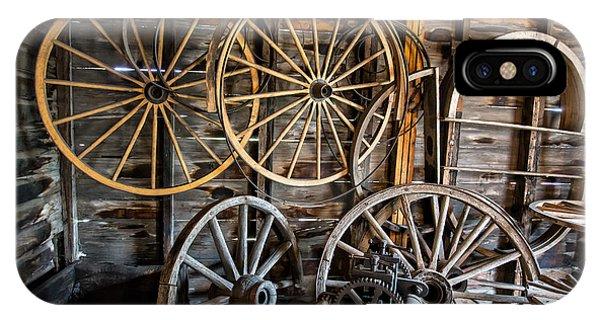 Wagon Wheel iPhone Case - Wagon Wheels by Edward Fielding