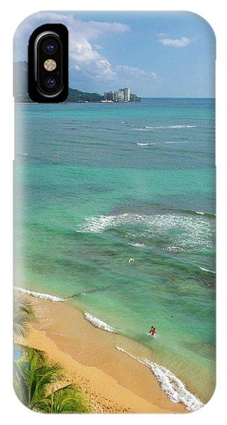iPhone Case - Waikiki Beach, Oahu, Hawaii by Douglas Peebles
