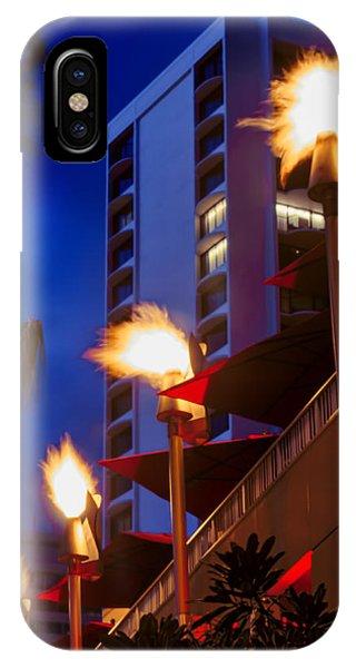 Tiki Bar iPhone Case - Waikiki Tiki Torches by Aloha Art