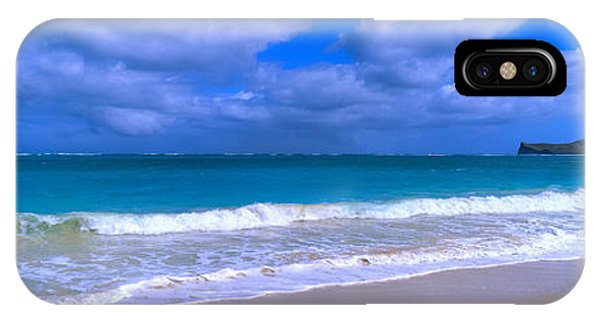 Oceanfront iPhone Case - Waimanalo Beach Park Manana Island Oahu by Panoramic Images