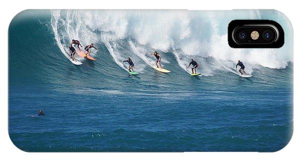 Jet Ski iPhone X Case - Waimea Bay Crowd by Kevin Smith