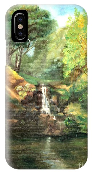 Waimea Falls Oahu Hawaii - 1970 IPhone Case