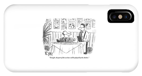 Waiter Reads The Specials To A Man At Dinner IPhone Case