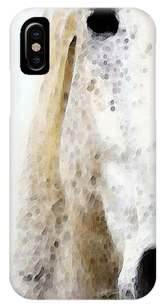 White Horse iPhone Case - Horse Art - Waiting 2 - By Sharon Cummings by Sharon Cummings