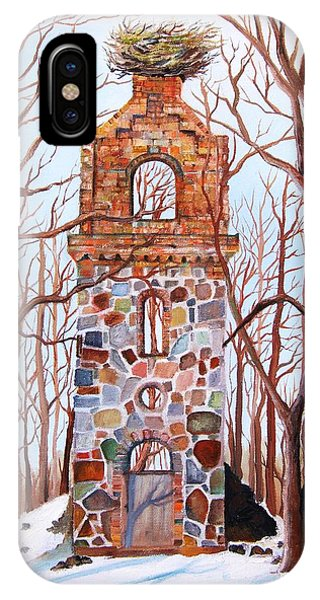 Waiting At Church Ruins  IPhone Case