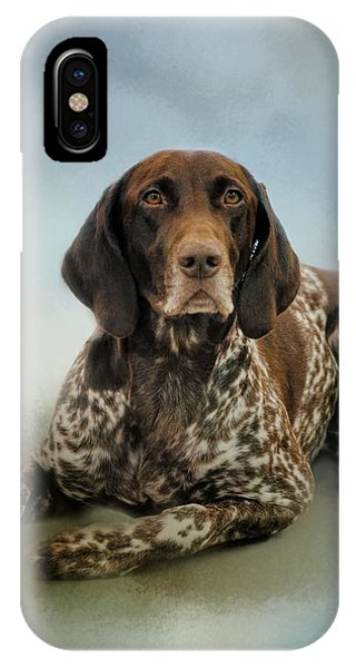 Waiting For A Cue - German Shorthaired Pointer IPhone Case