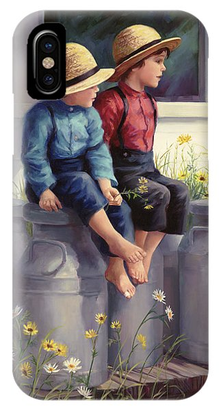 Porch iPhone Case - Waiting For Mama by Laurie Snow Hein