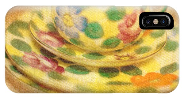 Saucer iPhone Case - Waiting For Tea by Rebecca Cozart