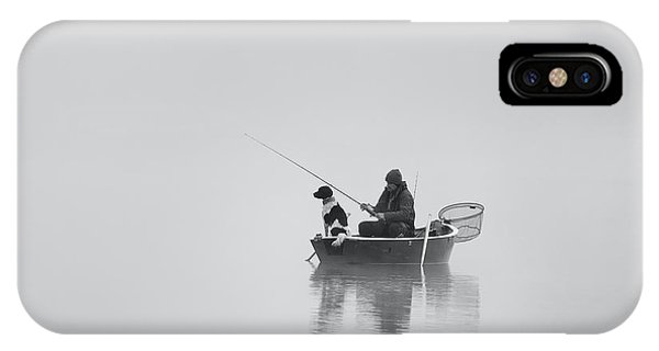 Fisherman iPhone Case - Waiting For The Big Catch by Uschi Hermann