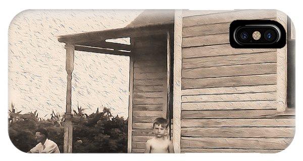 Waiting For The Rain Wataga Illinois 1944 IPhone Case