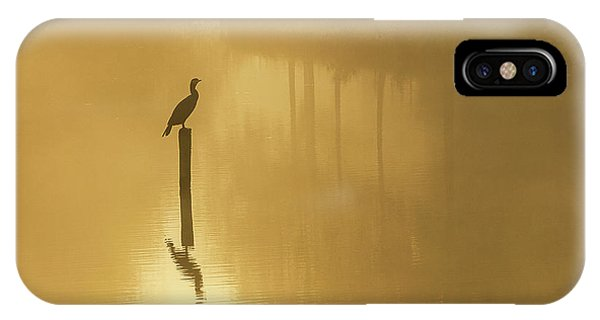 Fog Mist iPhone Case - Waiting For The Sun .......... by Piet Haaksma