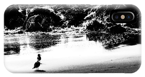 Waiting For Their Meal Black And White IPhone Case