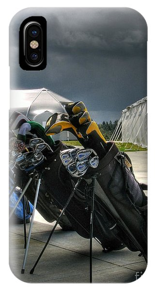 Waiting Out The Rain - Chambers Bay Golf Course IPhone Case