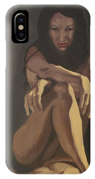 IPhone Case featuring the painting Waiting by Stephen Panoushek