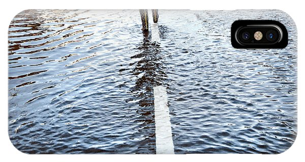 Flooded iPhone Case - Walk The Line by Linda Wride