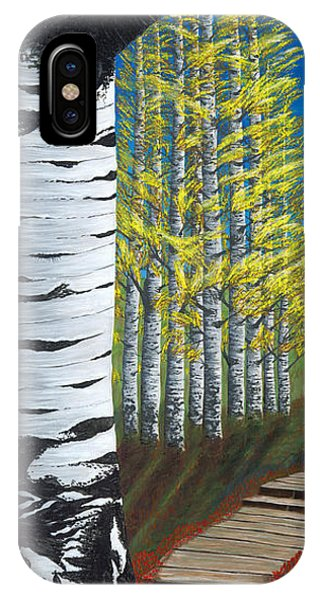 Walk Through Aspens Triptych 1 IPhone Case