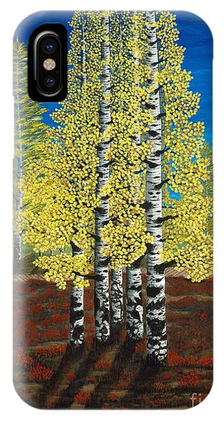 Walk Through Aspens Triptych 2 IPhone Case