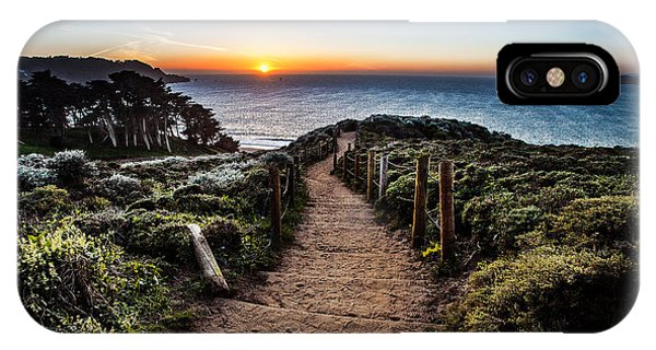 Walk To The Sunset IPhone Case
