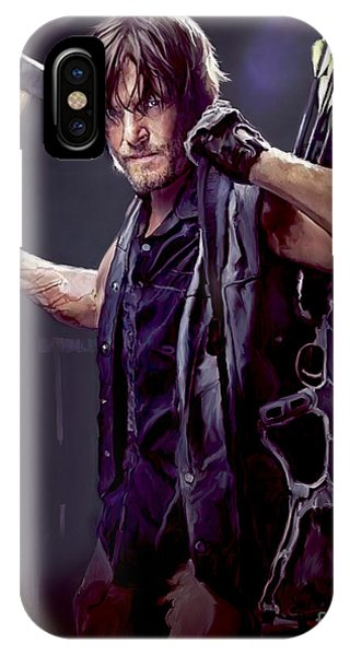 Digital iPhone Case - Walking Dead - Daryl Dixon by Paul Tagliamonte