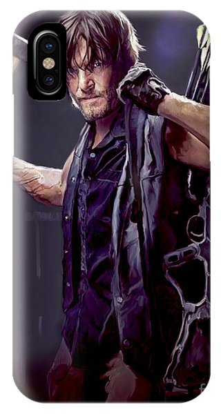 Hollywood iPhone Case - Walking Dead - Daryl Dixon by Paul Tagliamonte