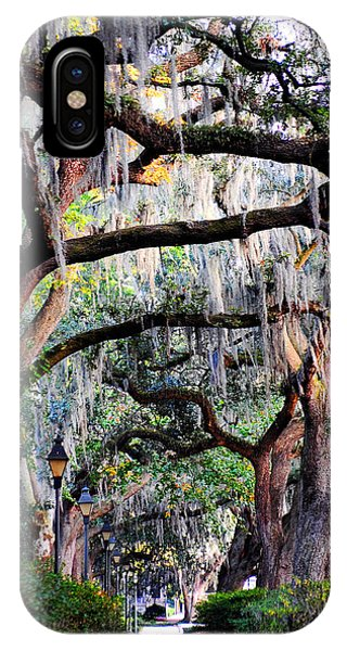 Walking In Forsyth Park IPhone Case
