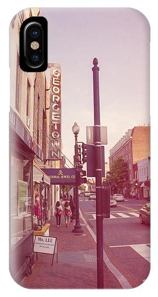 Walking In Georgetown IPhone Case
