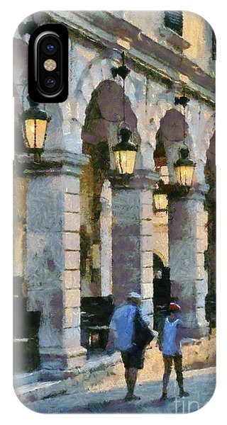 Spianada Square In Corfu City IPhone Case
