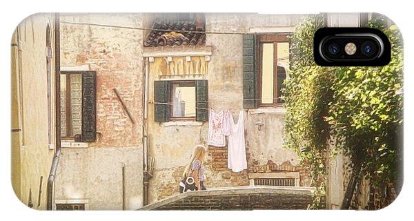 Walking In Venice IPhone Case
