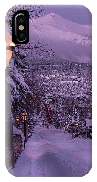 Walking In Winter IPhone Case
