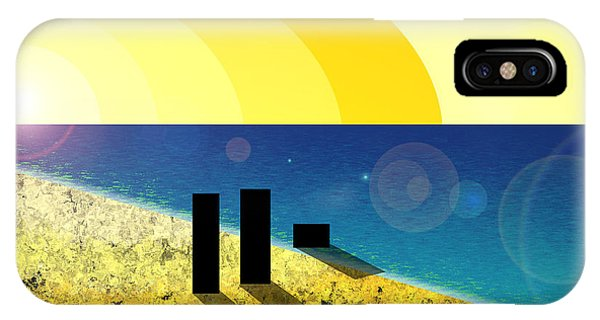 Walking Into The Sunset IPhone Case