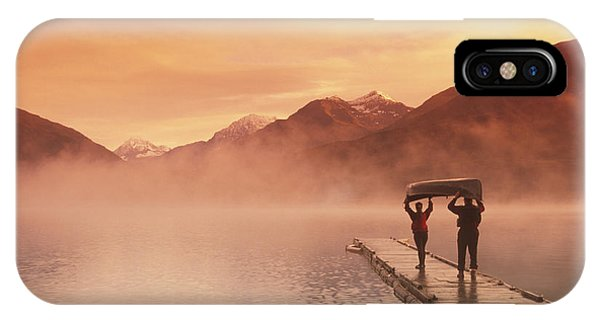 Fog iPhone Case - Walking On Dock Robe Lake  Sunrise Sc by Michael DeYoung