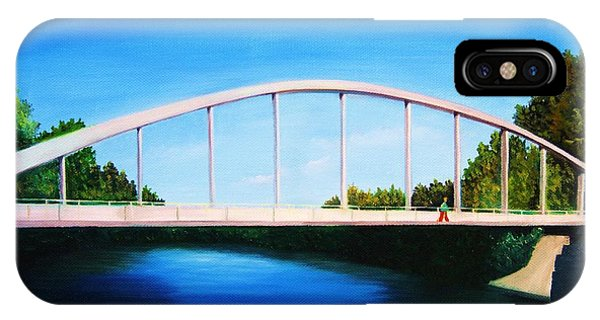 Walking On The Bridge  IPhone Case