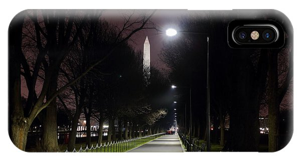 Walking Path Along The Reflecting Pool IPhone Case