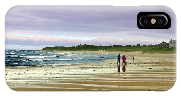Walking The Dog After A Storm IPhone Case