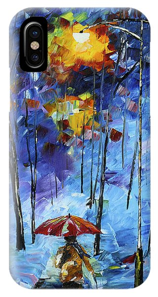 IPhone Case featuring the painting Walking The Dog by Kevin  Brown