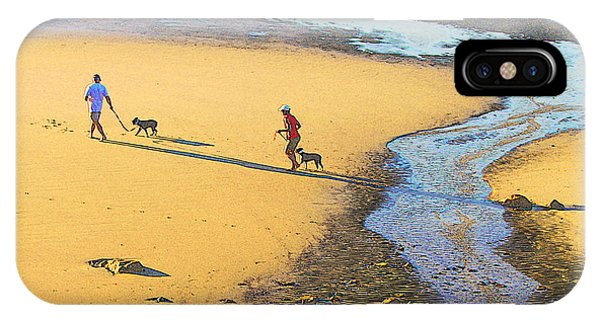 Walking The Dogs IPhone Case