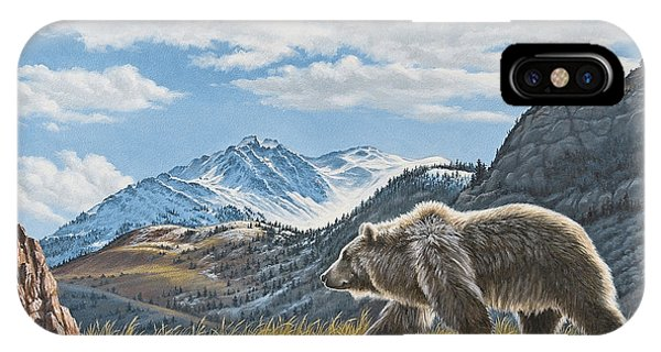 Walking The Ridge - Grizzly IPhone Case