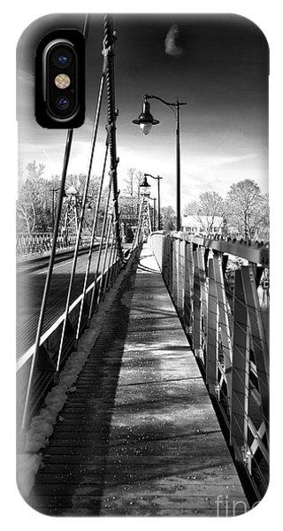 Walking The Riegelsville Bridge IPhone Case