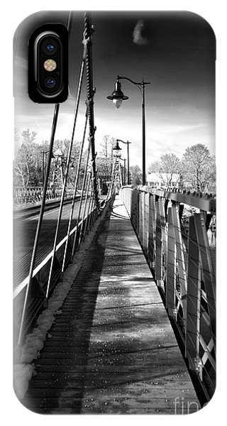 Walking The Riegelsville Bridge IPhone Case