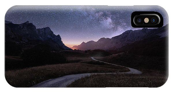 Night iPhone Case - Walking The Stars by Sergio Abevilla