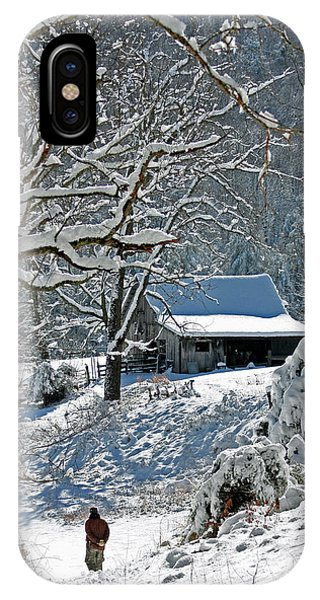 Walking Toward The Barn IPhone Case