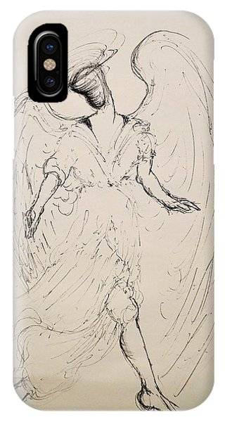 Walking With An Angel IPhone Case