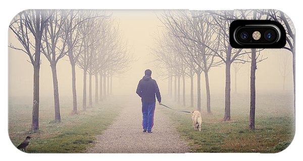 Walking With The Dog IPhone Case