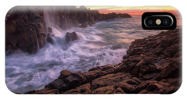 Flow iPhone Case - Wall By The Sea by Joshua Zhang