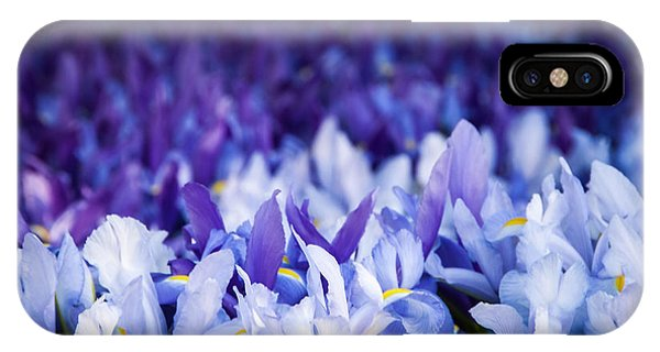 Wall Of Purple Iris IPhone Case